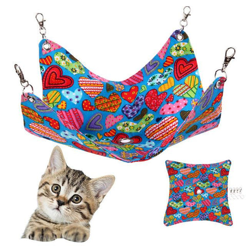 Lovely Pet Cat Hammock Heart Shape Sleeping Hanging Bed for Hamster Totoro Squrriel Cat Products Pet Supplies