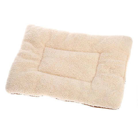Soft Washable Puppy Dog Cat Bed Pad Mat Cushion Reversible Fleece Pet Kennel Crate Mat