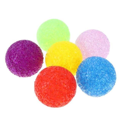 6 Pcs Cat Toy Balls Kitten Toys Candy color Assorted Ball Interactive Cat Toys Play Scratch Catch Pet Kitten with Sound Bell