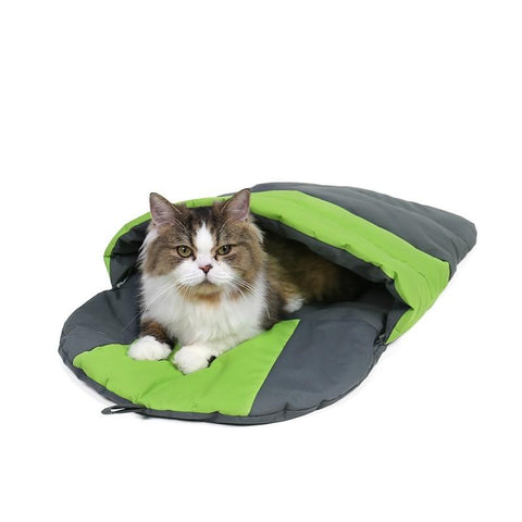 Waterproof Cat Dog Sleeping Bag Foldable Puppy Cave Bed Pet Warm Soft Mat Cushion For Travel Or Indoor Pet Cat Supplies