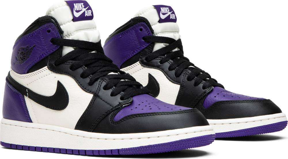 55a15042339dc0 Air Jordan 1 Retro High Og Gs court Purple Black white
