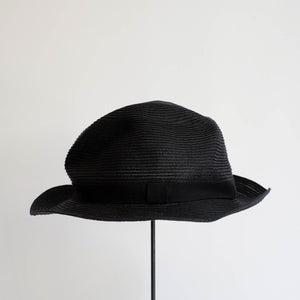 BOXED HAT by mature ha. 5.5cm brim grosgrain ribbon / BLACK