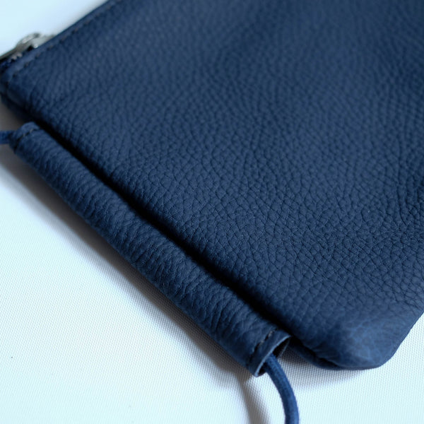 ERA. LEATHER POUCH NAVY