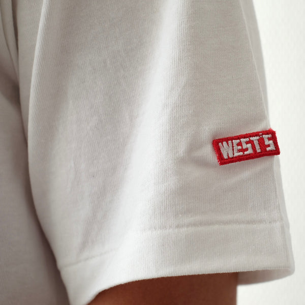"WESTOVERALLS ""WEST'S"" EMBROIDERY T-SHIRT RED"