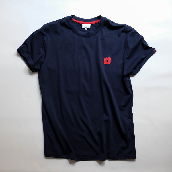 Monsieur Coquelicot T-SHIRT NAVY
