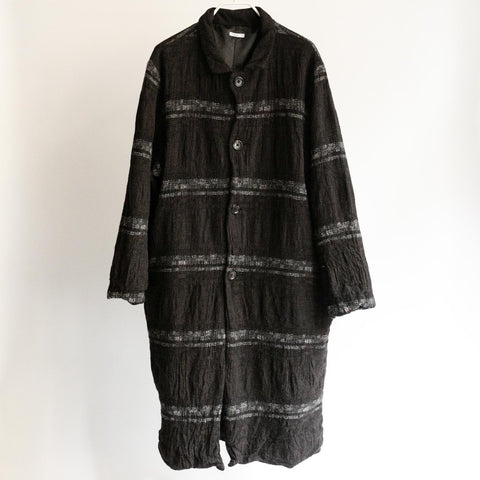 Dhal FULLING WOOL COAT BLACK