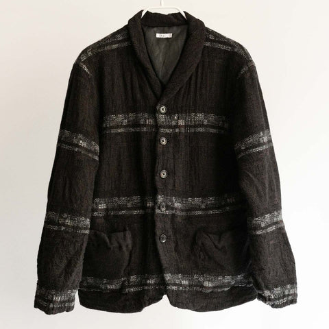 Dhal FULLING WOOL JACKET BLACK