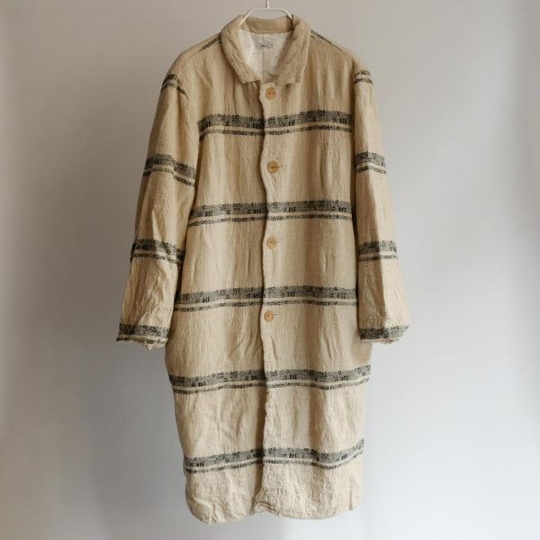 Dhal FULLING WOOL COAT WHITE