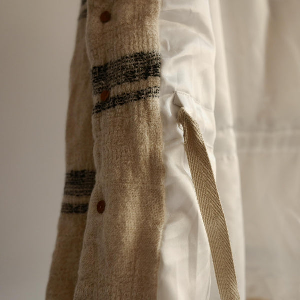 Dhal FULLING WOOL JACKET WHITE