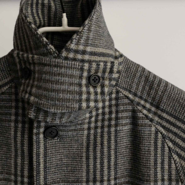 KHONOROGICA by KICS DOCUMENT. S100's WOOL BAL COLLAR COAT GREY