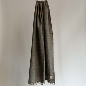 LOCALLY CLASSIC GLENCHECK SCARF BROWN