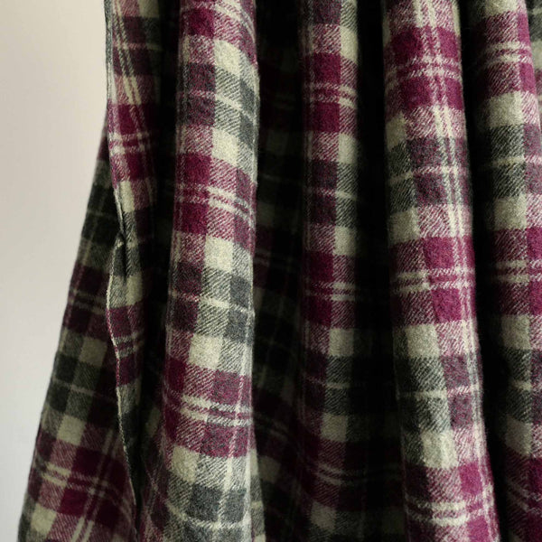 LOCALLY CLASSIC CHECK BIG SCARF BORDEAUX/GREEN