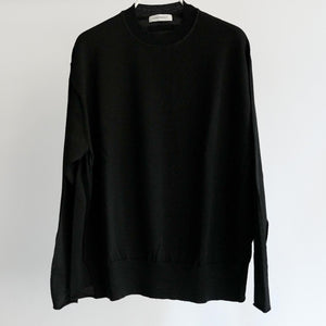 WRAPINKNOT CREW NECK WOOL KNIT BLACK