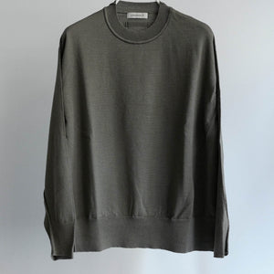 WRAPINKNOT CREW NECK WOOL KNIT GREY