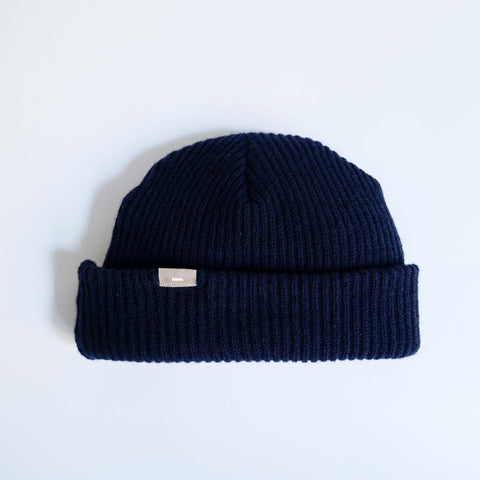 LOCALLY CASHMERE KNIT CAP NAVY
