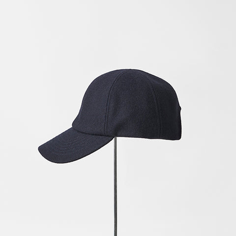 MATURE HA._MIL Trainer Cap / Melton NAVY