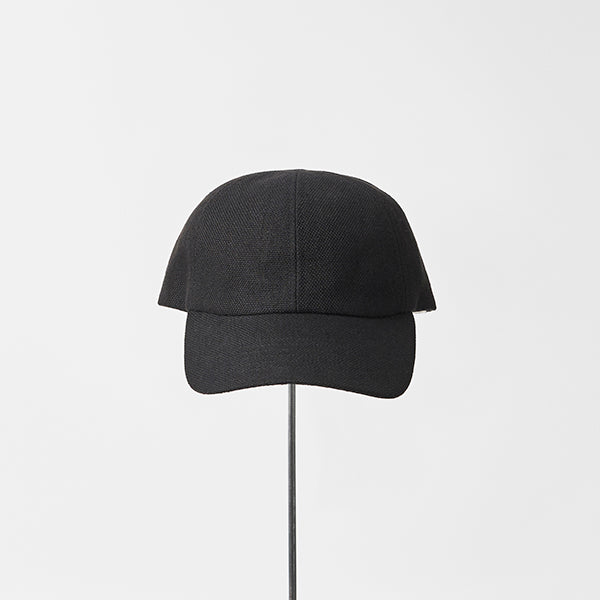 MATURE HA._MIL Traner Cap / Linen Canvas BLACK