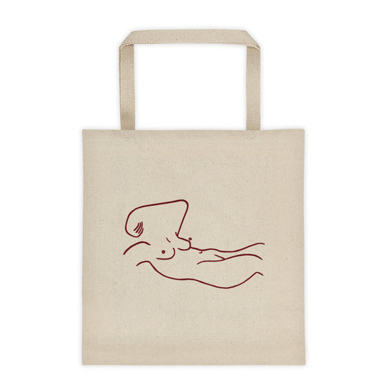 La pause minimalist illustration tote bag