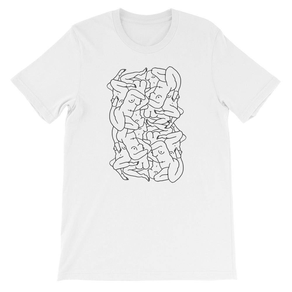 ''Très Mélangens'' T-Shirt Unisex in Black & in White