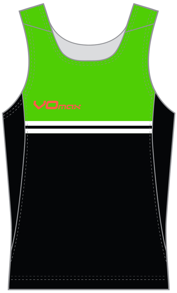 Women's Running Singlet-Striped