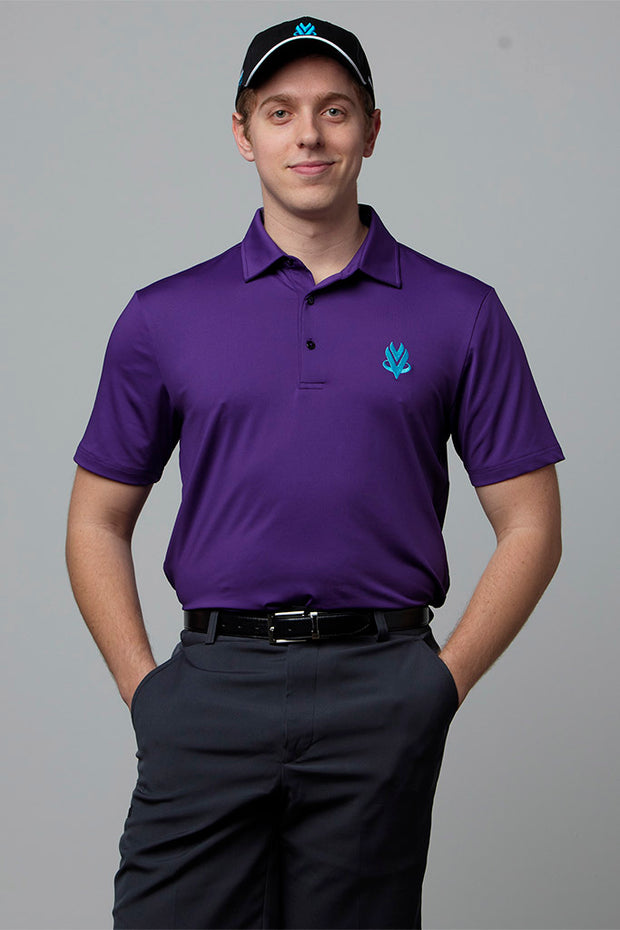 VOmax Golf Polo - Purple