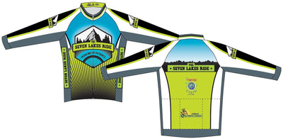 Seven Lakes Ride Long Sleeve Cycling Club Jersey
