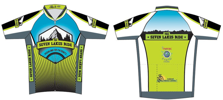 Seven Lakes Ride Short Sleeve Cycling Club Jersey