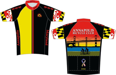 Annapolis Bicycle CLUB Short Sleeve Cycling Jersey-NEW DESIGN