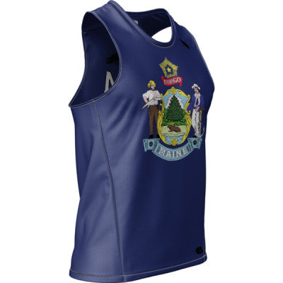 Crow Maine Flag Mens REC Singlet Elite