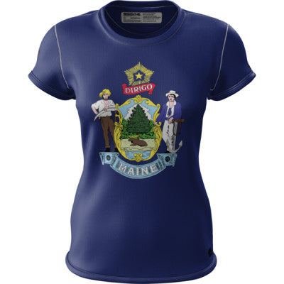 Crow Maine Flag Womens SS REC T Elite