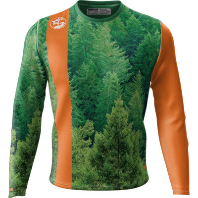 Crow Pine Trees + Mens LS REC T Elite