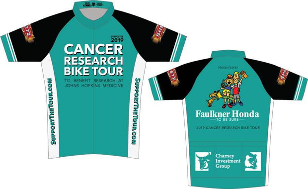 Cancer Research Bike Tour's Supporter Cycling Jersey