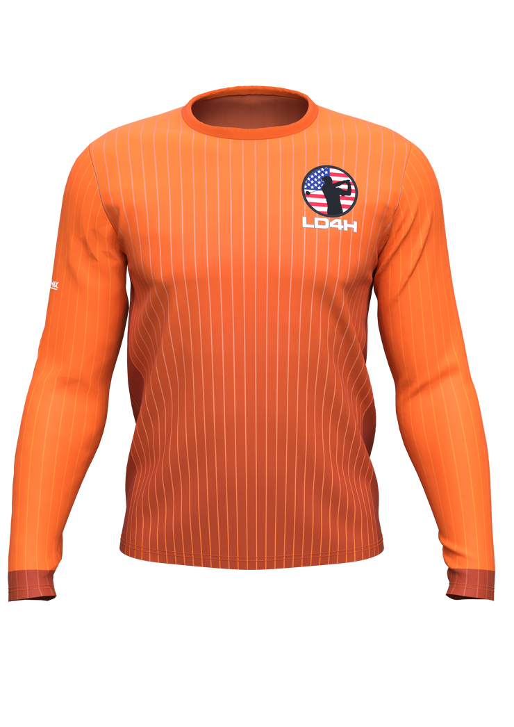 Men's LD4H Long Sleeve Tech Tee - Orange