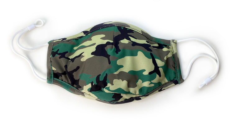 3-Layer Face Mask – Green Camo