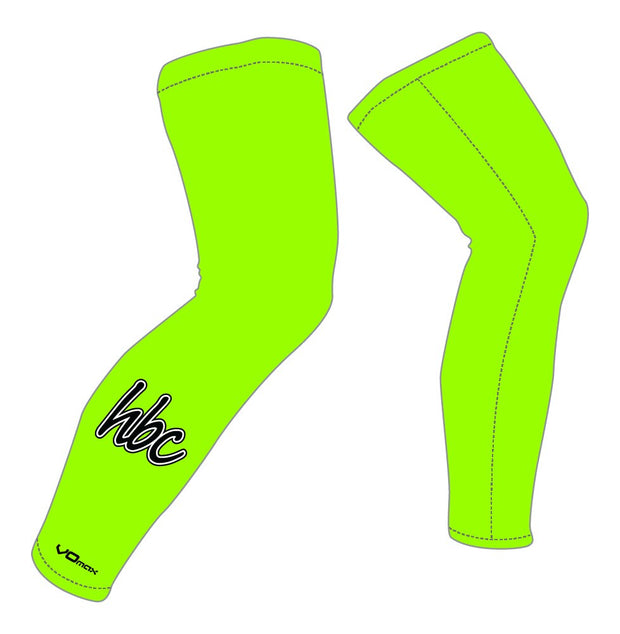 Harrisburg Bicycle Club Leg Warmers-Green