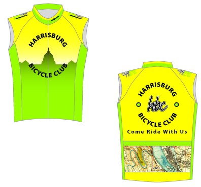 Harrisburg Bicycle Club Sleeveless Cycling Jersey
