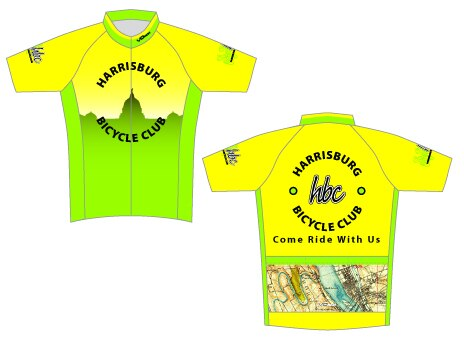 Harrisburg Bicycle Club Short Sleeve Cycling Jersey