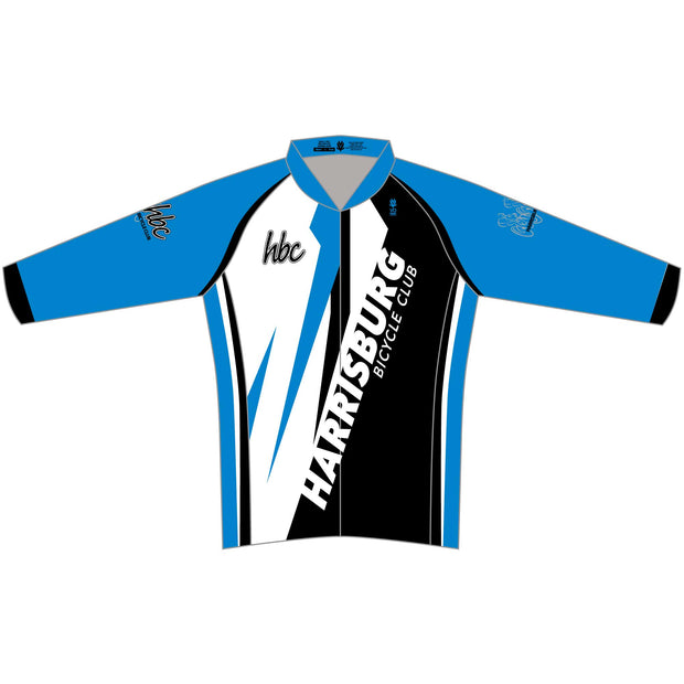 2020 HBC Long Sleeve Classic Club Cycling Jersey - Blue