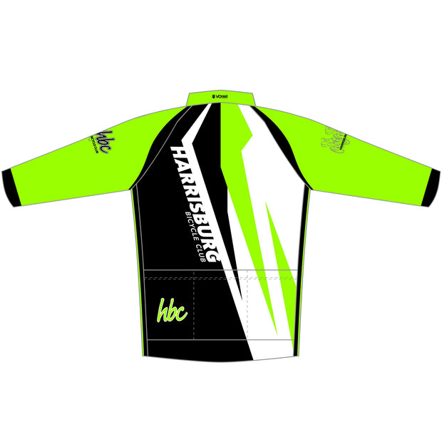 2020 HBC Long Sleeve Classic Club Cycling Jersey - Green