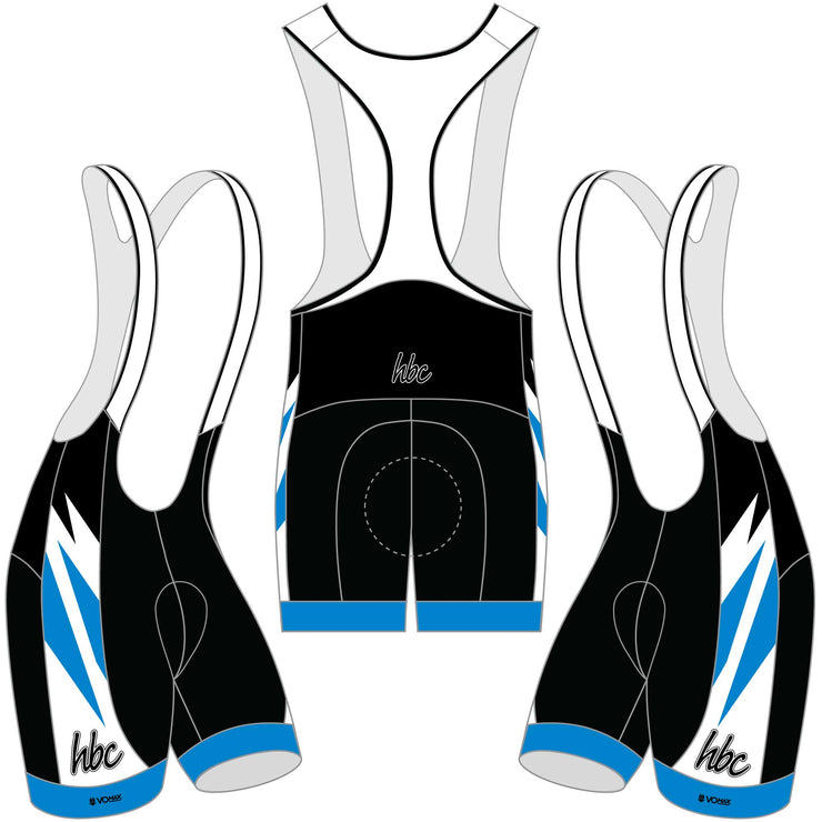 2020 HBC Club Cycling Bib Shorts - Blue