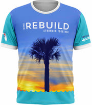 "Hurricane Michael ""We Will Rebuild Stronger Together""  Tech Tee"