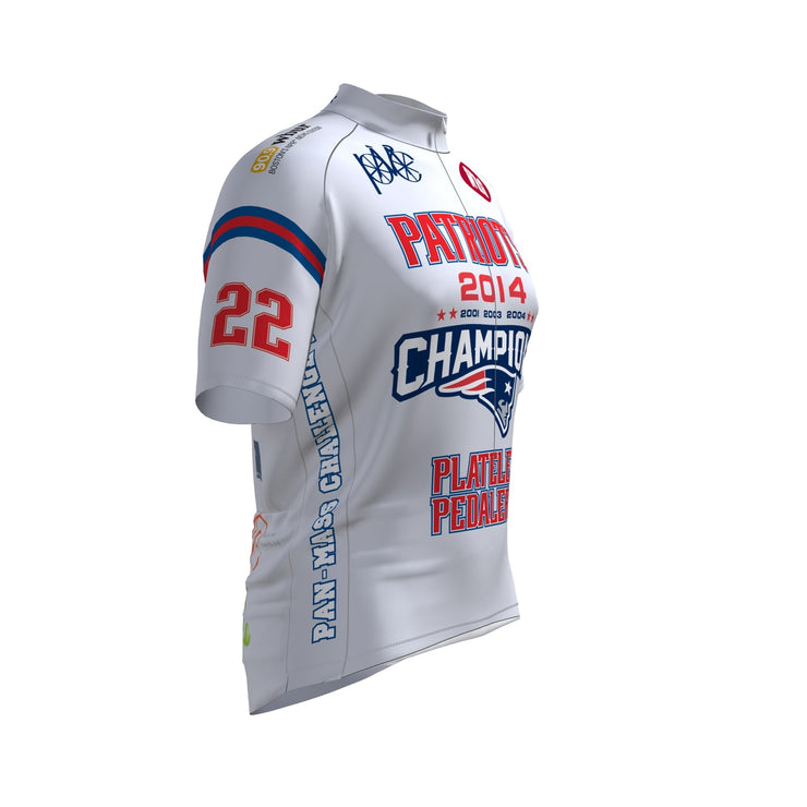 Patriot Platelet Pedalers Club Cut Short Sleeve Cycling Jersey
