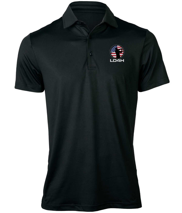 LD4H Men's Golf Polo - Black
