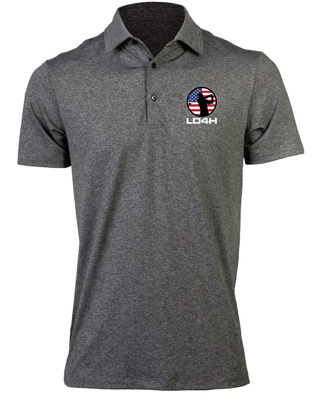 LD4H Men's Golf Polo - Charcoal