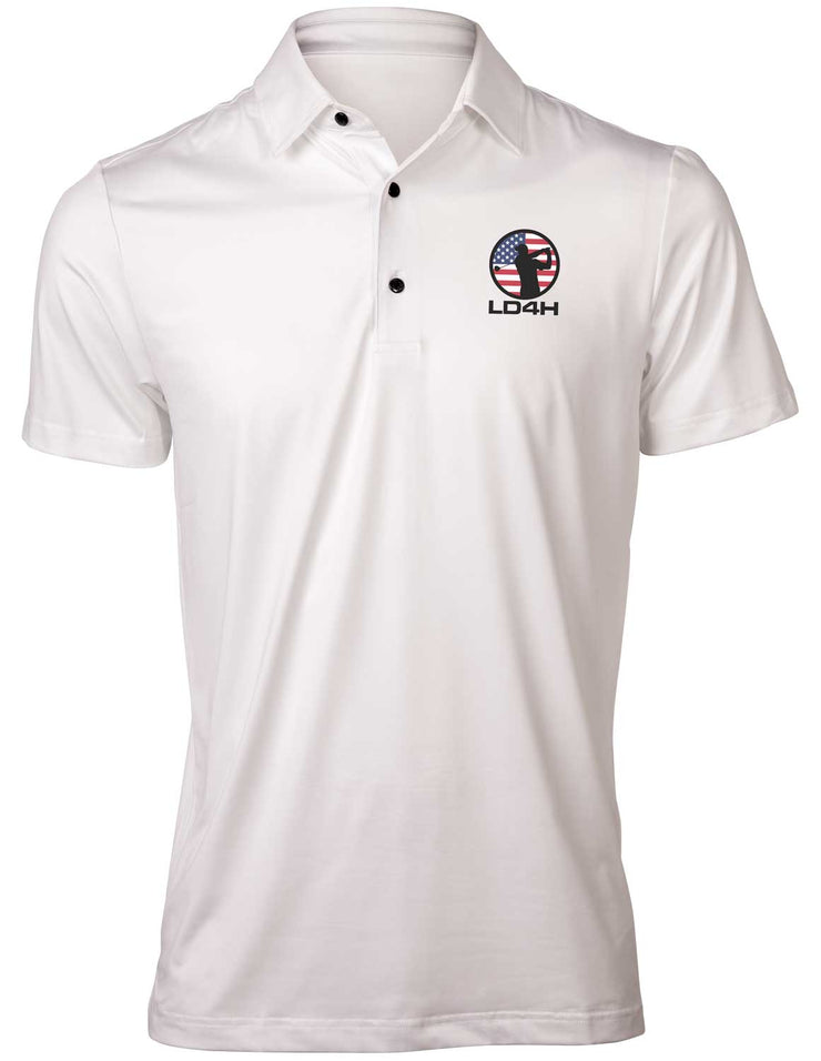 LD4H Men's Golf Polo - White