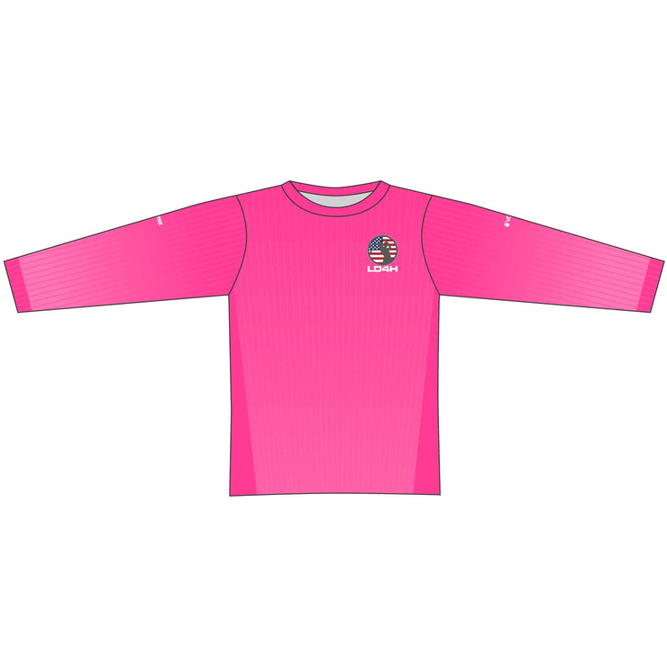 Women's LD4H Long Sleeve Tech Tee - Hot Pink