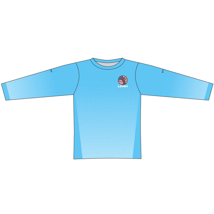 Women's LD4H Long Sleeve Tech Tee - Cyan