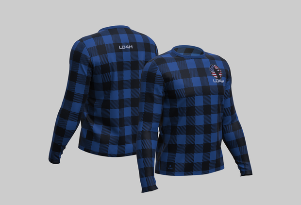 LD4H Lumberjack Long Sleeve Tech Tee - Blue