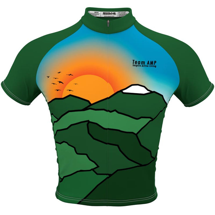 Team AMP + Mens REC Cycling Jersey