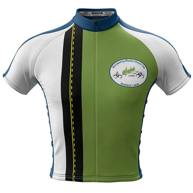 Mens Merrymeeting Wheelers Cycling Jersey- Green